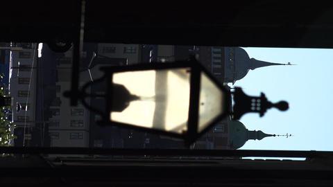 The old street lamp in Stockholm. Sweden. 4K. Vertical frame Footage