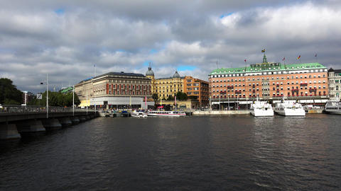 The Grand Hotel in Stockholm. Sweden. 4K Footage