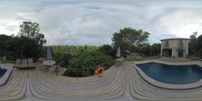 360 VR House with pool and view to the river, Mauritius Footage