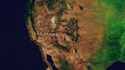 Las Vegas - United States zoom in from space Animation