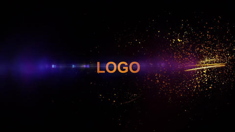 Fire Particle Logo After Effects Template