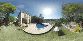 360 VR House with outdoor pool in Mauritius VR 360° Video