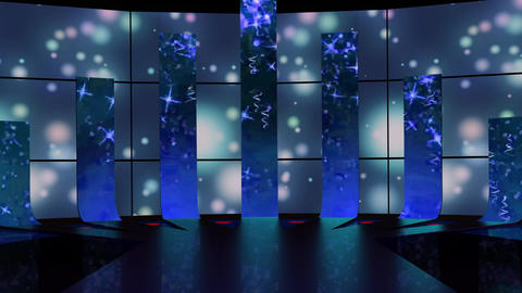 Entertainment TV Studio Set 50-Virtual Background Loop ライブ動画