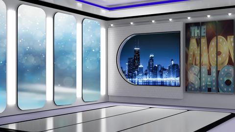 Entertainment TV Studio Set 53-Virtual Background Loop Live Action