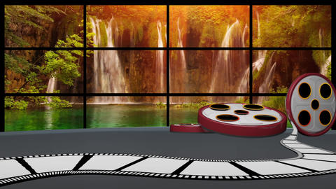 Entertainment TV Studio Set 55-Virtual Background Loop ライブ動画