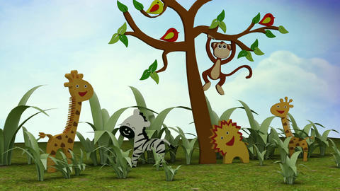 Kids TV Studio Set 04 - Virtual Background Loop ライブ動画