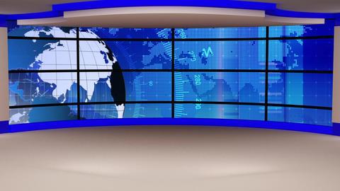 News TV Studio Set 291- Virtual Background Loop ライブ動画