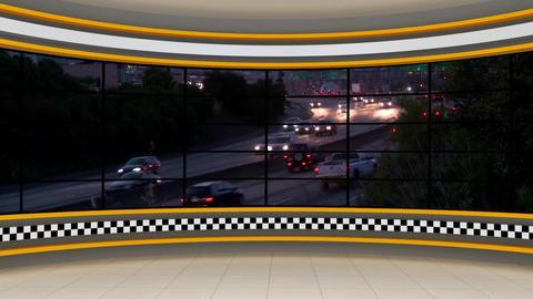News TV Studio Set 293- Virtual Background Loop ライブ動画