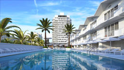 Hotel complex 3d image Animation