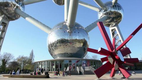 Atomium monument Footage