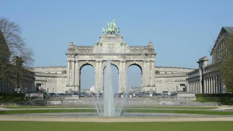 The Cinquantennaire monument Footage