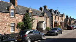 Great Britain Scotland Highland Invergordon British homes in Joss Street Footage