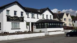 Great Britain Scotland Highland Invergordon Tuckers Inn hotel at cost road Filmmaterial