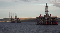 Great Britain Scotland Highland Invergordon British oil drilling islands Footage