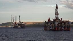 Great Britain Scotland Highland Invergordon British oil drilling islands Footage