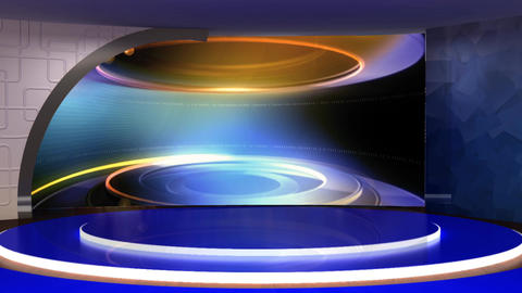 News TV Studio Set 273- Virtual Background Loop ライブ動画