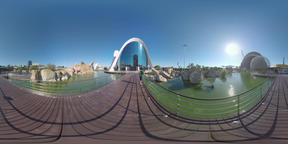 360 VR View in the City of Arts and Sciences, Valencia VR 360° Video