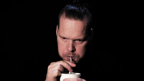 Man drinking soda Live Action
