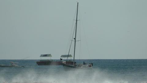 Big waves at beach San Juan del Sur Footage