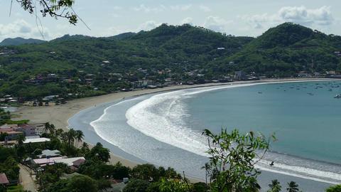 Beach San Juan del Sur from hill top Footage