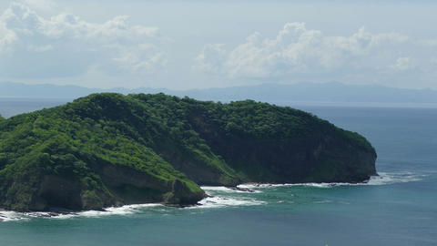 Jungle coastline of San Juan del Sur from above Footage