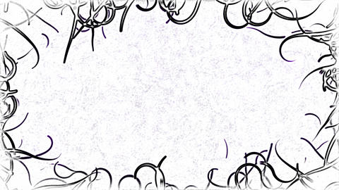 Black Vines Border Background Animation - Loop Animation