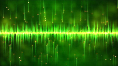 Abstract Falling Stars And Lights Animation - Loop Green stock footage