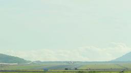 Hard crosswind landing Footage