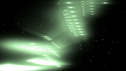 Green Flood Lights Disco Music Background Animation