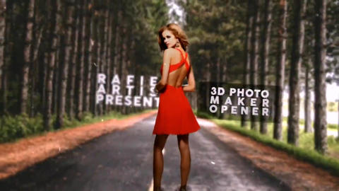 3D Photo Maker Opener After Effects Template