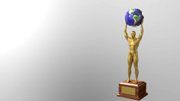 Trophy award ceremony intro with space for title text nomination 4K4 Footage