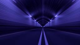 Tunnel Road Driving Fast Endless Seamless Loop 4K Footage