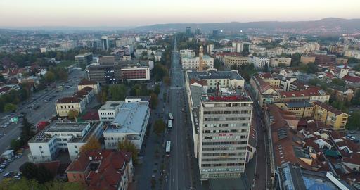Banja Luka, Bosnia and Herzegovina, aerial shot of city center Footage