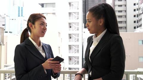 Co workers Happy Colleagues Girls Women Talking During Break In Office Footage