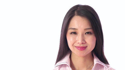 People Portrait Happy Beautiful Asian Japanese Woman... Stock Video Footage