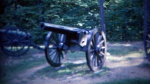 1961: Fredericksburg battlefield visitor center war artillery cannons Footage