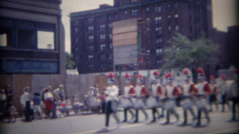 1962: Patriotic colorful 4th of July marching band parade Live Action