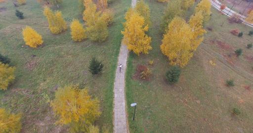Cross Country Biking, Aerial shot Filmmaterial