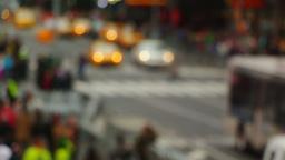 Blurred Fast Street Traffic Footage