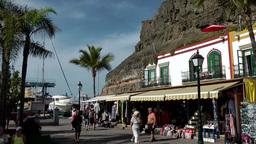 Spain Gran Canary Mogán 031 harborside promenade Footage