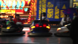 Bumping cars at amusement park