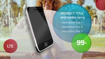 Mobile promo After Effects template After Effectsテンプレート