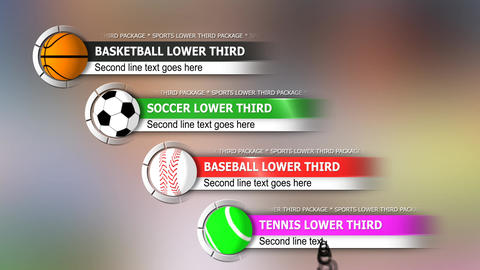 Sports lower third package After Effects Template