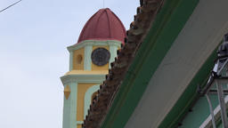 Zoom out main Catholic church or convent in Trinidad, Sancti Spiritus,Cuba Footage