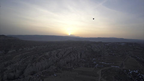 Aerial view of Goreme - Sunrise Footage