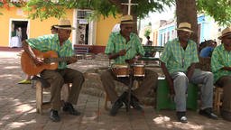 Trinidad de Cuba tourism: Left Pan to traditional acoustic music group playing i Footage