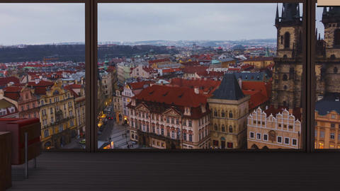 A penthouse with a view to the iconic Prague Old Town Square Footage