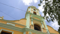 Church or Convent, main landmark and tourist attraction-Trinidad, Cuba Footage