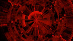 Abstract rotating centric strong red colored circles Animation