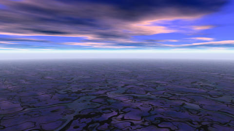 Abstract landscape blue scene Animation